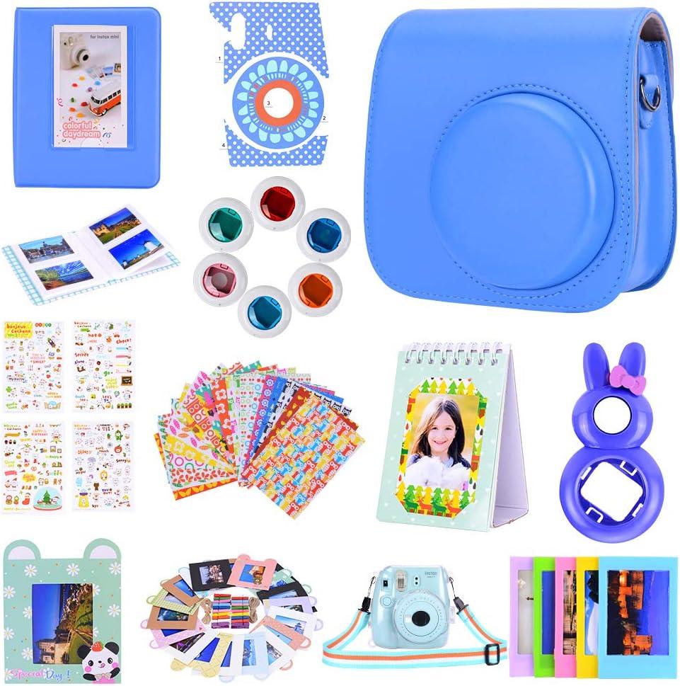 12 in 1 Fantasy Starry Sky Camera,Includes Mini 9 Case//Albums//Six Color Filters//Selfie Lens//Camera Sticker Amarcor Instax Mini 9 Camera Accessories Set for Fujifilm Instax Mini 9// Mini 8// Mini 8