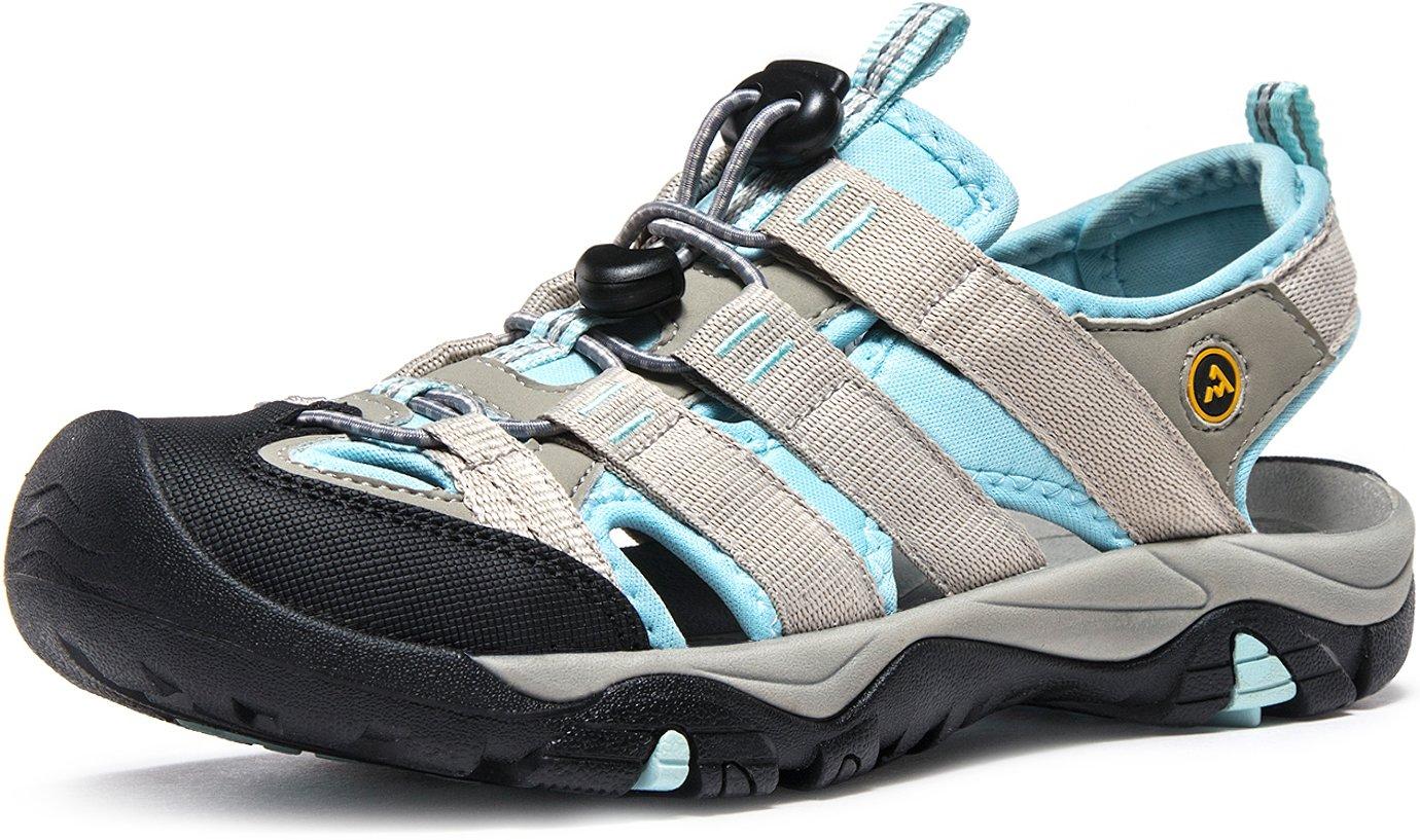 ATIKA CLSL AT-W107-GSB_Women 10 B(F) Women's Sports Sandals Trail Outdoor Water Shoes 3Layer Toecap W107