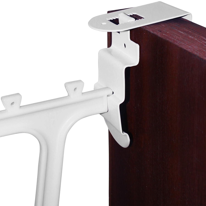 Over the door boot rack - Amos Adjustable Depth 3 5cm To 5 8cm Hanging Hook Clip Bracket Set For 36 Pair