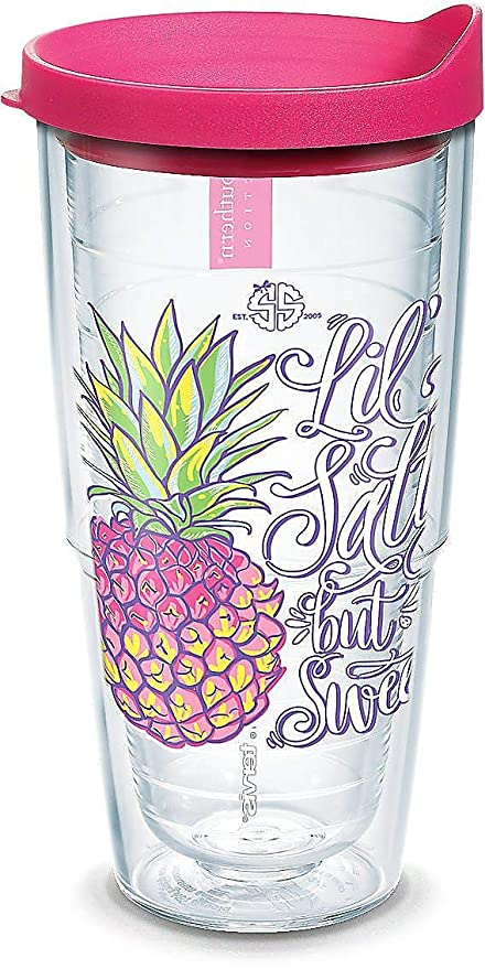 8b37a0d924f Amazon.com   Tervis 1308045 Simply Southern Pineapple Lil Sweet 24 ...