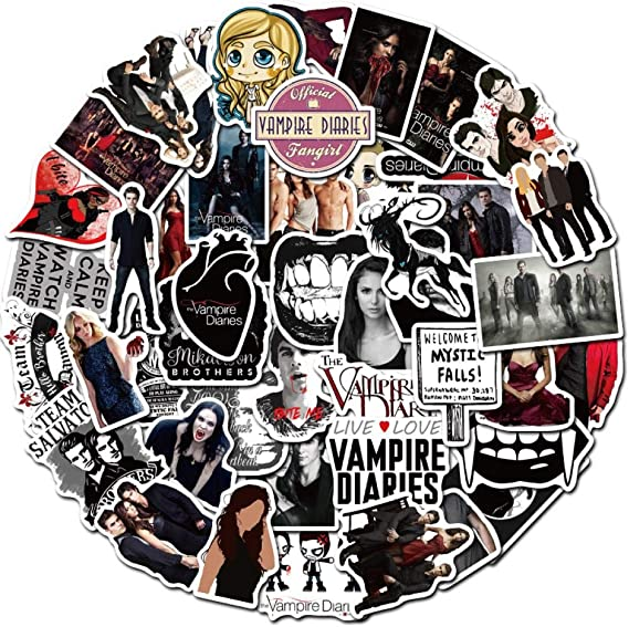 The Vampire Diaries Themed Lot of 20 Assorted Sticker Decals