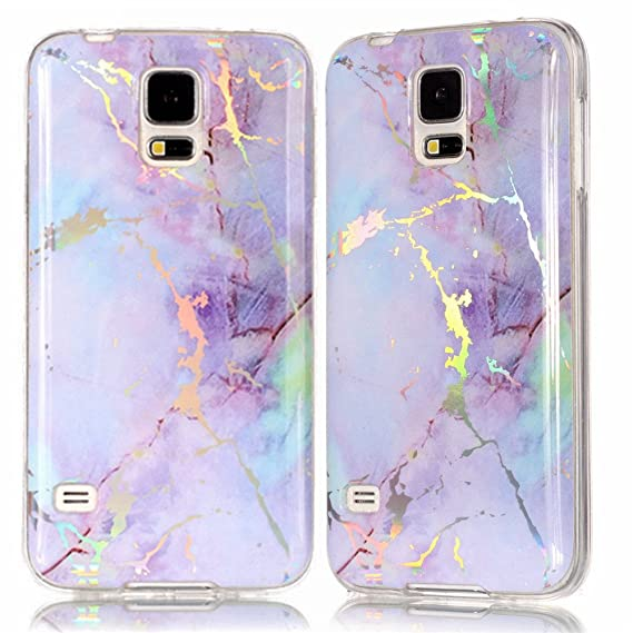 wholesale dealer b249b 5e2de Amazon.com: IVY Galaxy S5 Marble Case with Colour Electroplating and ...