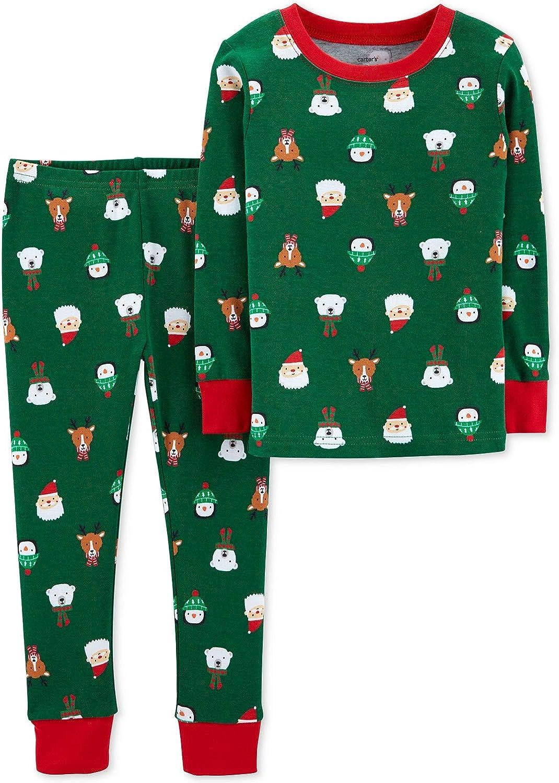 Holiday Style 2-pcs Snug Fit Knit Christmas Pajamas Boys