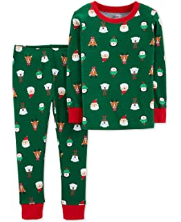 3b7d58d0820e Amazon.com  Carter s Boys Santa Christmas 2-Piece Snug Fit Cotton ...