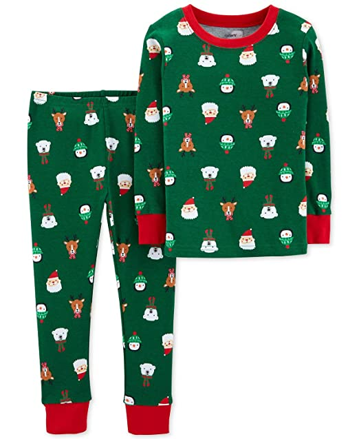 ab980566e0f8 Amazon.com  Carter s Toddler Boys Holiday Christmas Pajamas 2 pc ...