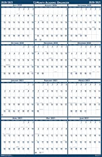 product image for House of Doolittle 2020-2021 Laminated Academic Wall Calendar, Reversible, 18 x 24 Inches, July - June (HOD3965-21)