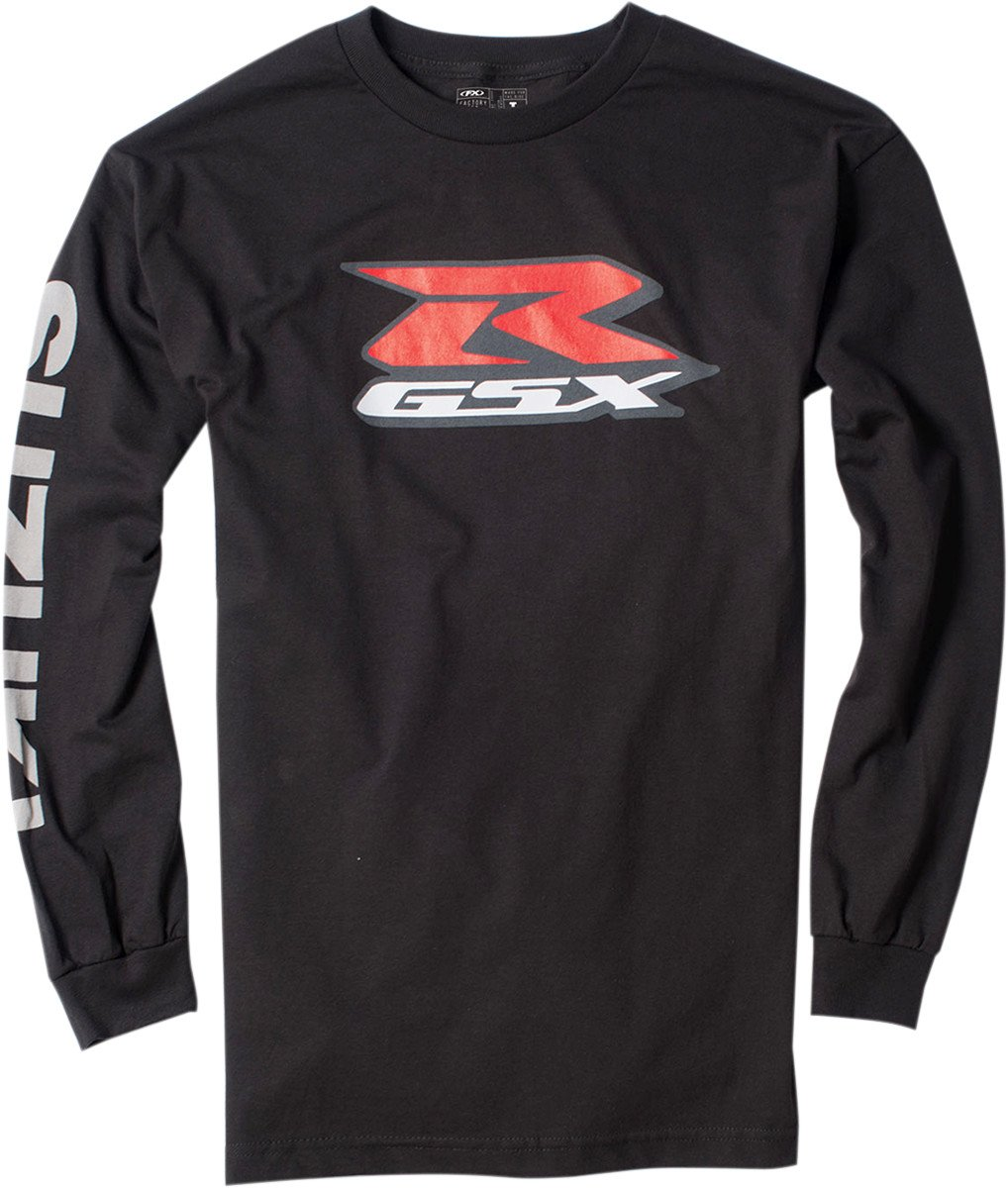 Factory Effex 17-87412 'SUZUKI' Long Sleeve T-Shirt (Black, Medium)