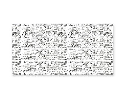 Amazoncom Lunarable Sketch Wall Art Music Theme Pattern With