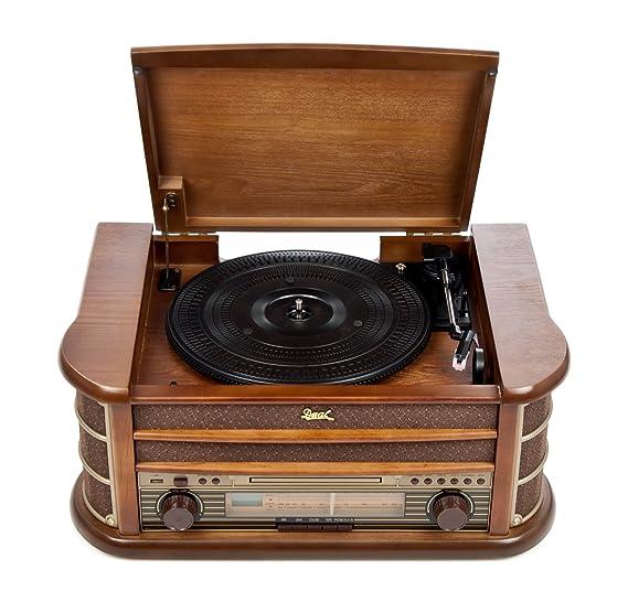Dual NR 4 Nostalgie - Cadena musical con tocadiscos (radio FM/AM ...