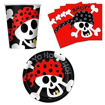 Amazon.com: Ahoy. pirata fiesta de cumpleaños suministros ...