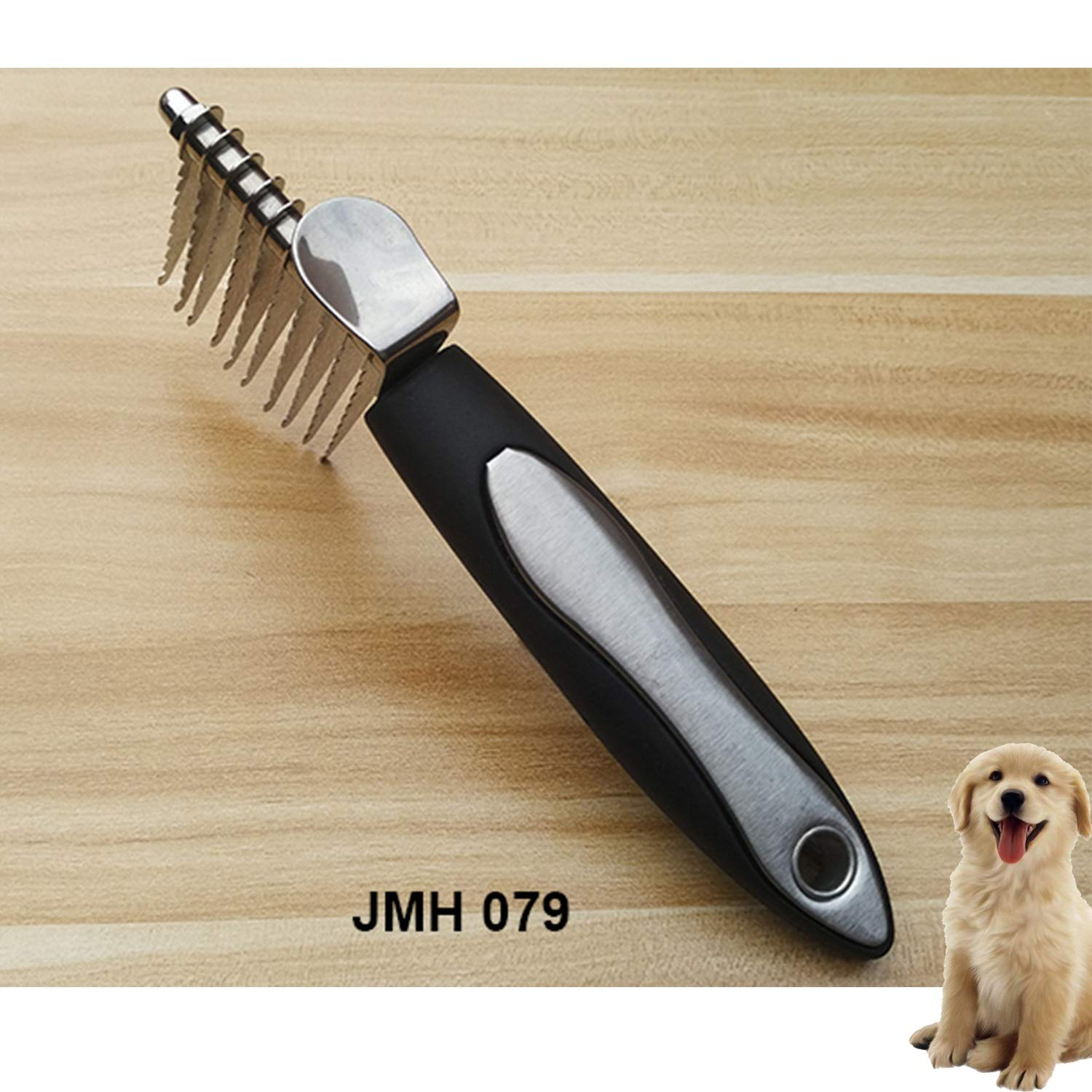RT Horses, Rabbits, Longhaired Cats, Dependable Grooming Appurtenance for Dogs, Poodle Pet Dematting Fur Rake Comb Brush Tool Detangling Matt or Knotty Undercoat Hair