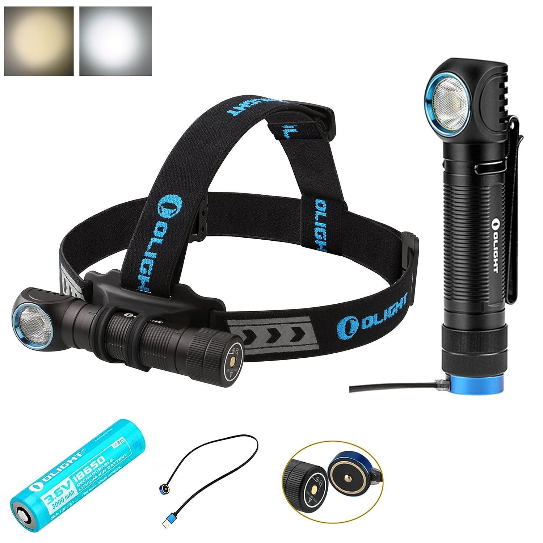 Olight H2R Nova Taschenlampe mit CREE XHP50 LED, 2300 Lumen, superhell, wiederaufladbar, cool Weiß