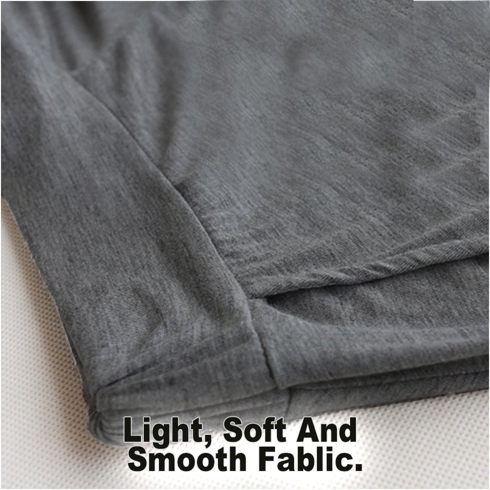 Women's Easy Shorts Elastic Waist Culottes Comfortable Relax Wear (Grey) Culottes Elastic Waist Shorts Flare Shorts Knee Length Loose Fit Shorts Mini Skirt Sheer Spats by PT&Key (Image #2)