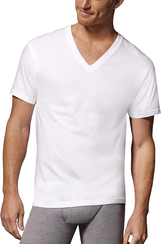 Hanes Tall Men's ComfortSoft Fresh IQ White V-Neck - 5 Pack