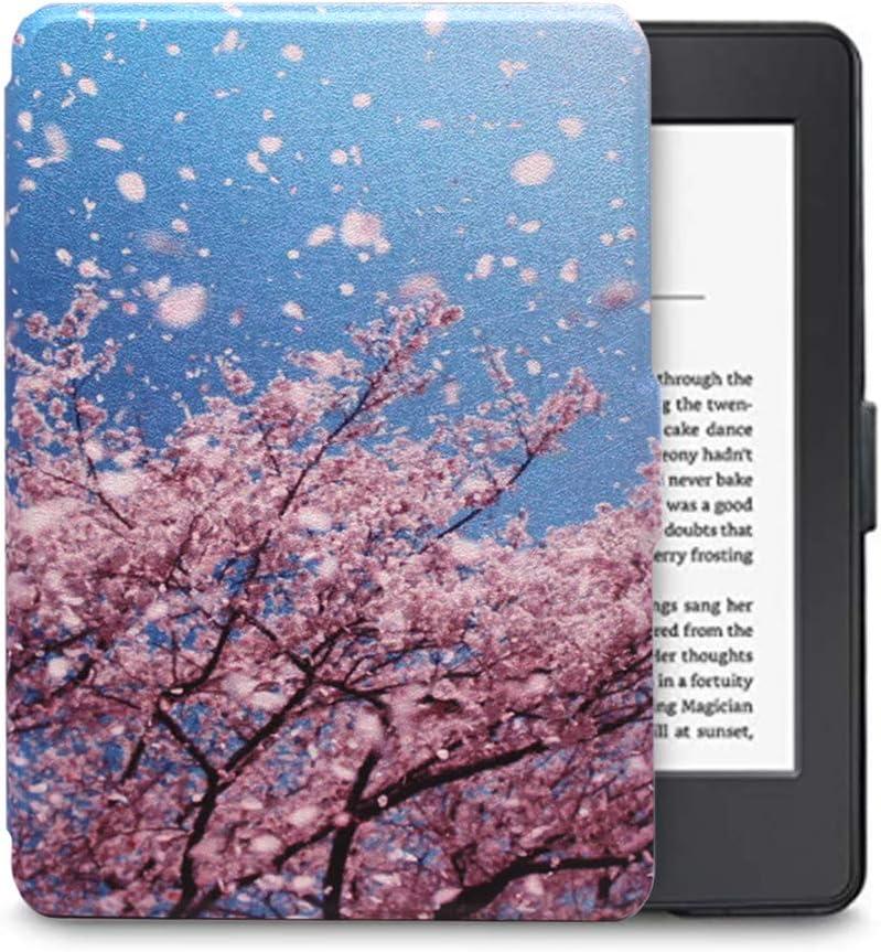 FAN SONG Funda para Kindle E-Reader Modelo SY69JL, Delgado Cubierta de Cuero con Función Automática de Sueño/Estela para Kindle E-Reader 8 Generacion: Amazon.es: Electrónica