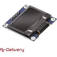 AZDelivery Modulo Pantalla OLED Display I2C 128 x 64 pixeles 0.96 Pulgadas compatible con Arduino y Raspberry Pi con E-Book incluido!