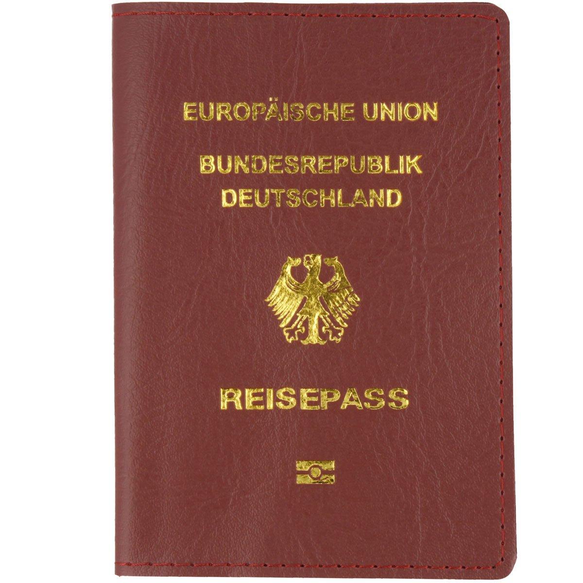 Reise-Pass Schutz-Hülle Etui im Lederdesign 20 x 14,2 cm (Braun) Oramics