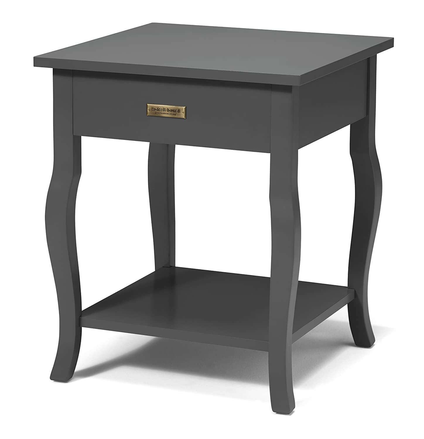 Amazon.com: Kate and Laurel Lillian Wood Side Table Curved Legs with ...