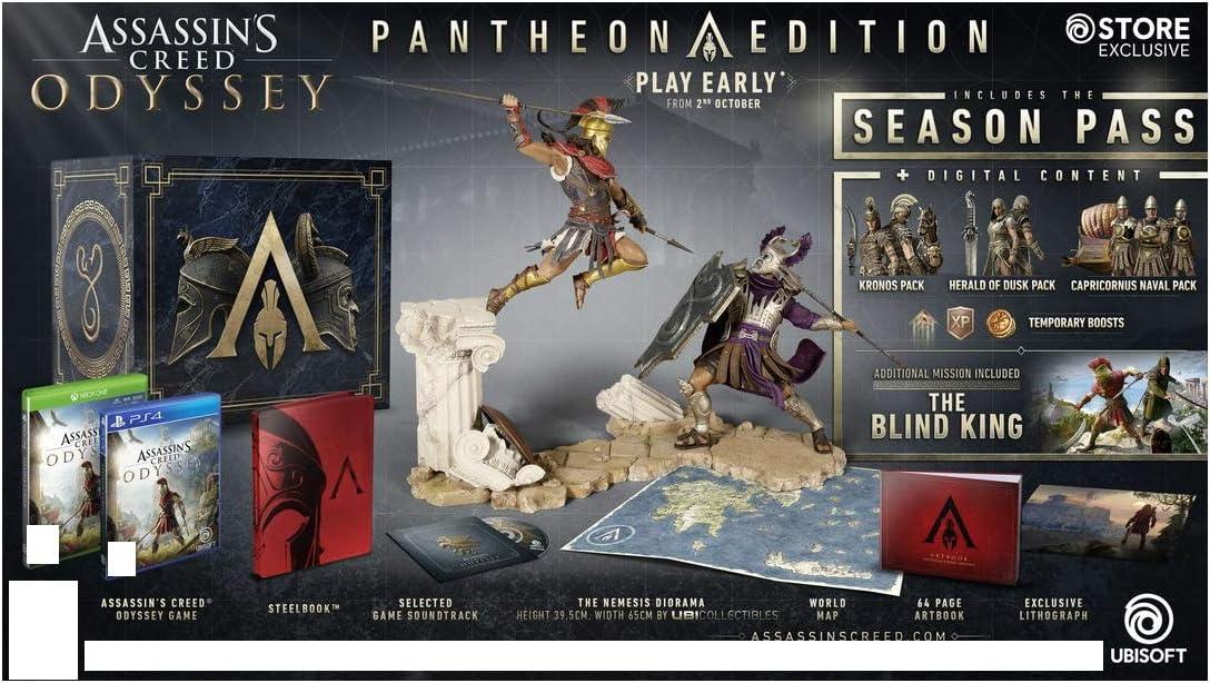 Sony Assassins Creed: Odyssey Pantheon Edition, PlayStation 4 vídeo - Juego (PlayStation 4): Amazon.es: Videojuegos