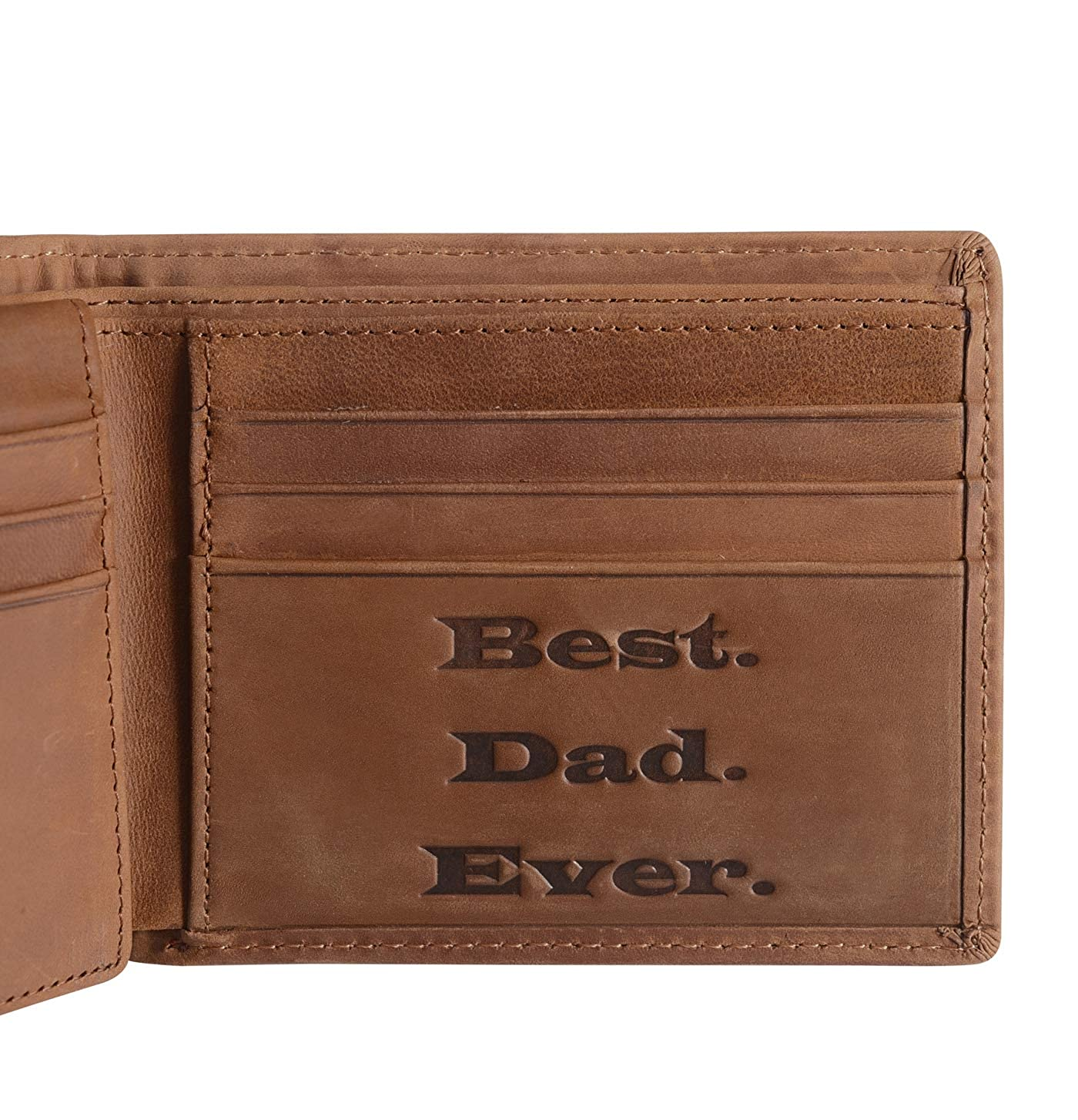 Genuine Leather Personalized Bifold Wallet for Men, RFID Blocking Wallet Gifts for Boyfriend Husband