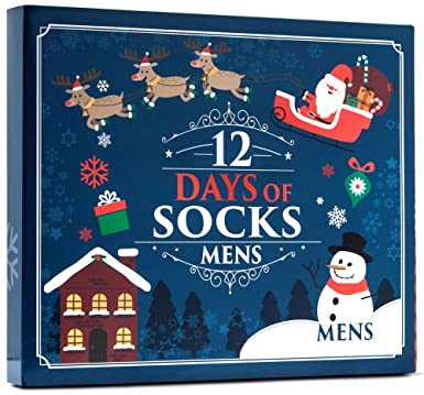 surprise mens womens and kids novelty holiday 12 days of christmas socks