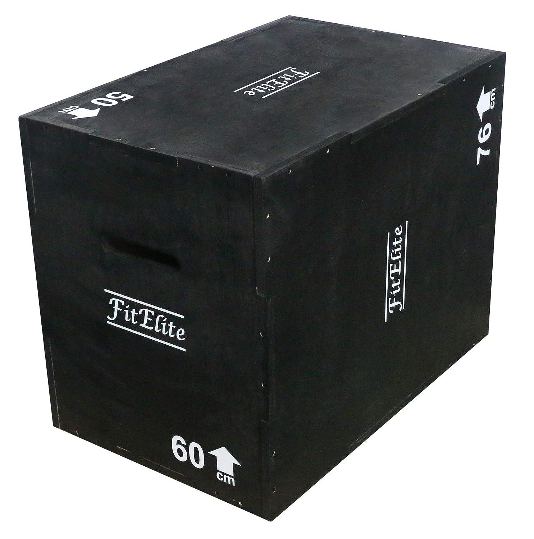 数量は多 FitElite(フィットエリート) ウッドプライオボックス3 50cm in 1【組立不要】(ジャンプボックス昇降台ジャンプ台ステップ台) in B07Q5NVL3K B07Q5NVL3K 50cm x60cmx76cm, e-style selection:9fdfe94c --- arianechie.dominiotemporario.com