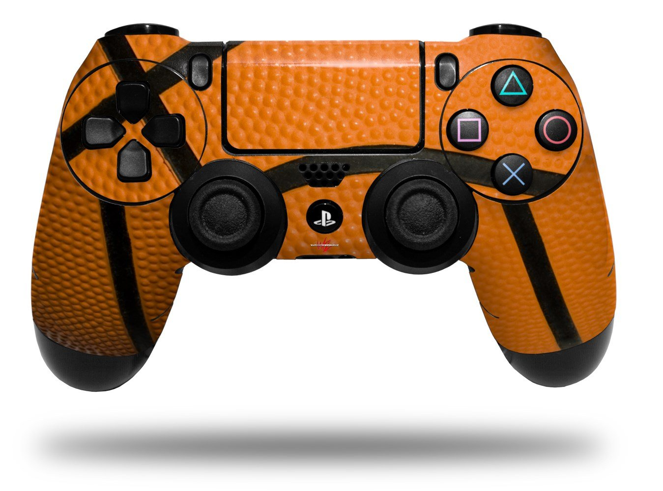 WraptorSkinz Skin compatible with Sony PS4 Dualshock Controller PlayStation 4 Original Slim and Pro Basketball (CONTROLLER NOT INCLUDED)