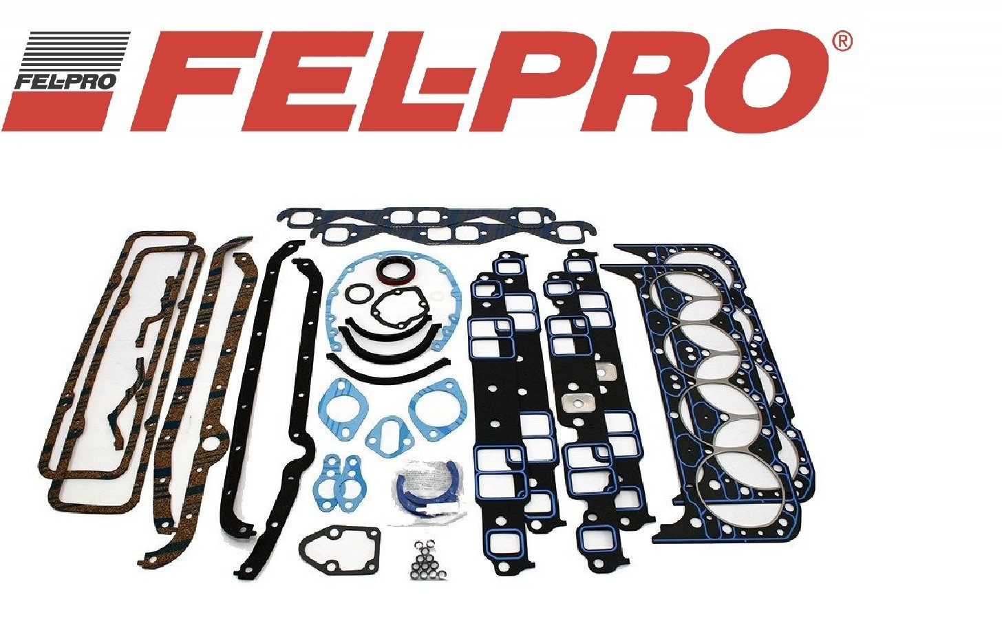 Fel Pro 260-3013 Small Block Chevy 305 350 383 Hi Performance Competition Series Gasket Kit SBC (HP Set)