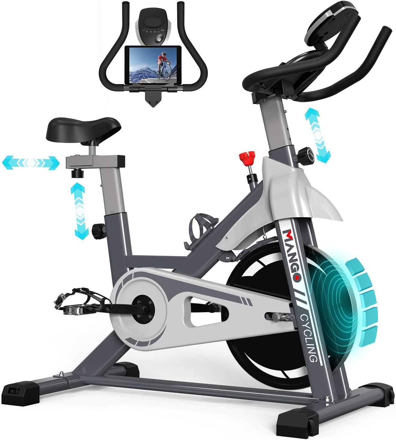 本格トレーニングスピンバイク 静音 負荷無段階 ハンドル&サドル調節可能