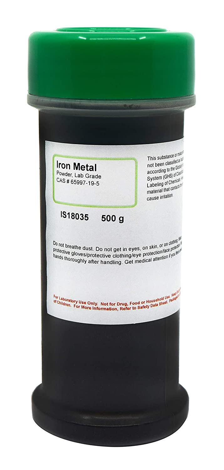 Laboratory-Grade Iron Metal Powder, 500g - The Curated Chemical Collection