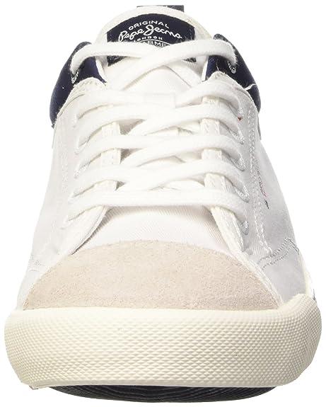 Pepe JeansBritt Piping - Zapatillas Hombre, Blanco - Blanc (800 White), EU 44