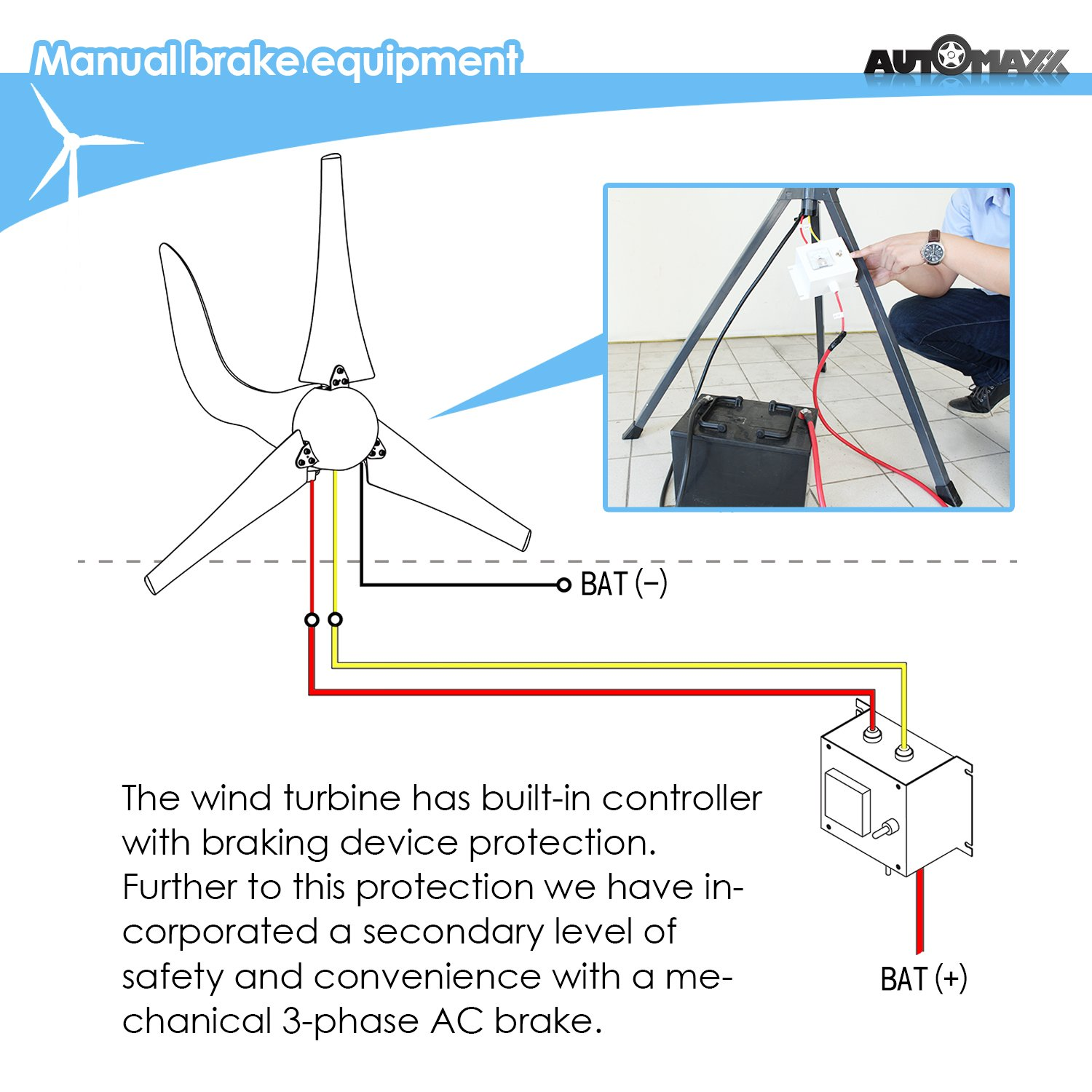 Amazon Windmill DB 400 400W 12V Wind Turbine Generator kit