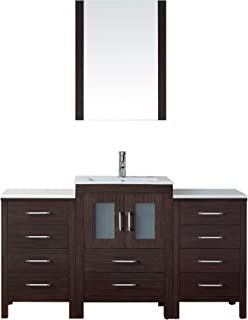 Unusual Tiled Baths Showers Tiny Tall Bathroom Vanity Height Solid Italian Bathroom Design Ideas Clean Bathroom Sink Drain Trap Old Kitchen Bath Design Center Bedford PinkBathroom Fitting Costs Homebase Virtu USA UM 3083 G ES Biagio 56 Inch Wall Mounted Single Sink ..