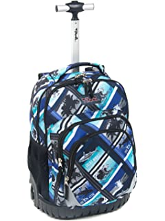 Tilami New Antifouling Design 18 Inch Oversized Load Multi-Compartment Wheeled Rolling Backpack Luggage for
