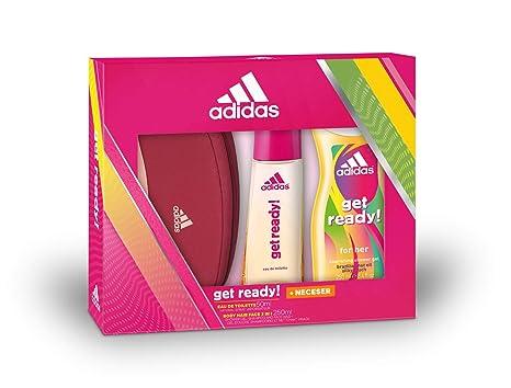 Adidas Get Ready Set Mujer Triplo Edt 50 + Gel 250 + Neceser ...