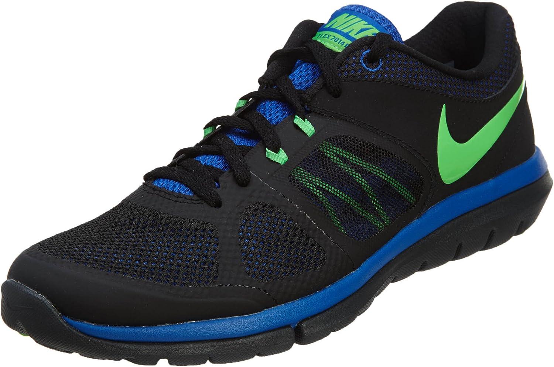 Nike Mens Flex 2014 Run Running Shoe Deep Royal Blue Venom Green White