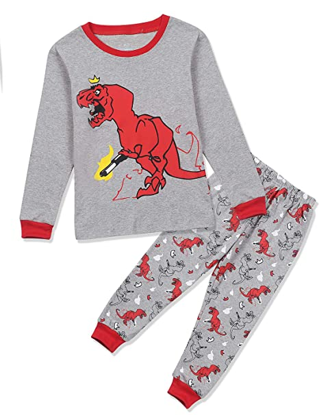 c48dda402 Amazon.com  Donnalla Baby Boys Dinosaur Pajamas Sleeper 100% Cotton ...