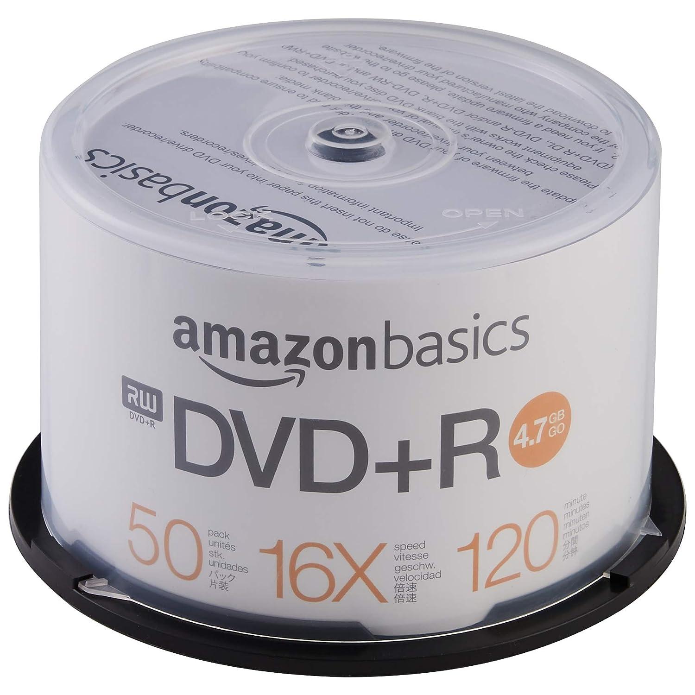 AmazonBasics - Torre de DVD-R de 4,7 GB (16x, 50 unidades): Amazon.es: Informática