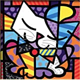 """Diy oil painting, paint by number kits for kids - British cat 8""""X 8""""."""