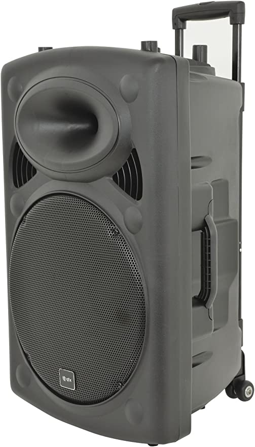 sound system with wireless speakers and microphone