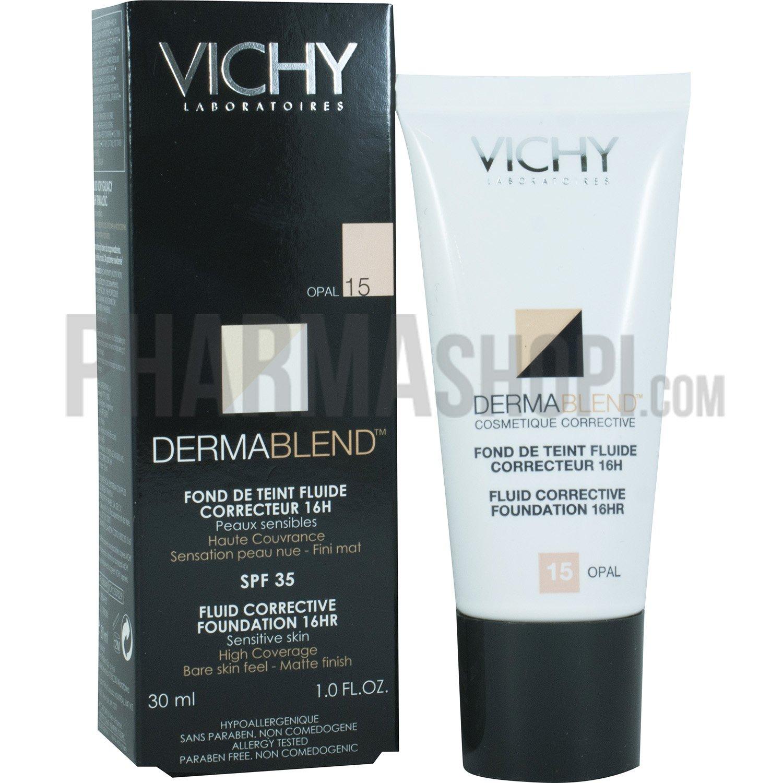 Vichy Linea Dermablend Fond De Teint Fluide Correcteur 16 Ore 30 ml Colore 15 26336