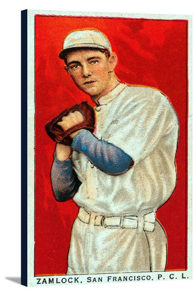 San Francisco Pacific Coast League – zamlock – 野球カード 19 5/8 x 36 Gallery Canvas LANT-3P-SC-23571-24x36 19 5/8 x 36 Gallery Canvas  B0184AO0Z8