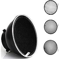 Godox Difusor reflector estándar de 18 cm con rejilla de panal de abeja 20/40/60 grados para Bowens Mount Studio luz…