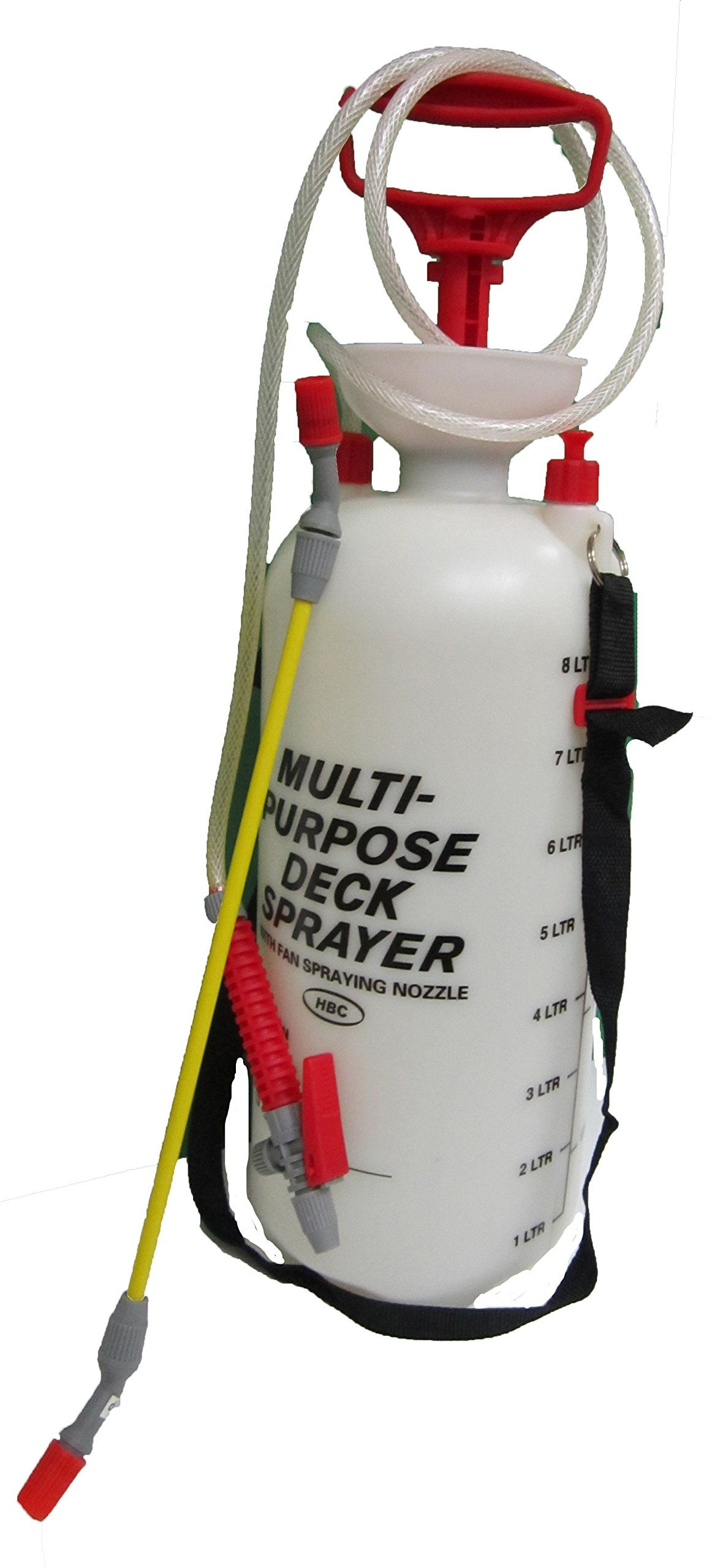 Pressure Sprayer, Fast and Easy to Pump, Great for Misting Plants, Cooling Off, and Many Other Uses! Used with Any Brand of Pesticide, Insecticide, Deck Cleaner or Fertilizer. (2 Gallon/8L)