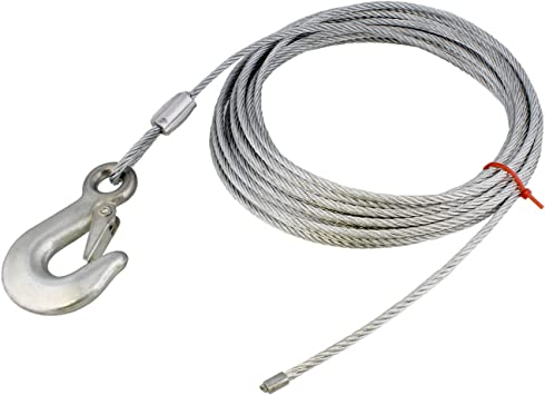WC325 0100 3//16 x 25 Winch Cable with Hook Fulton