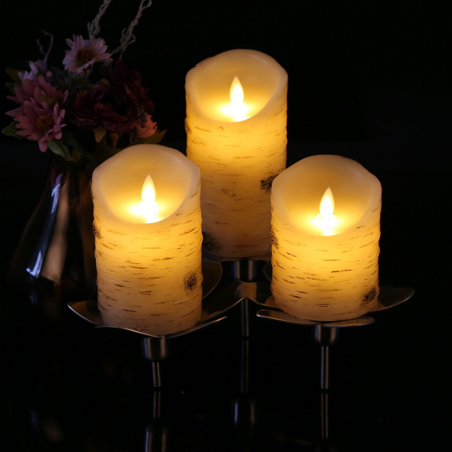 H 4 5 6 7 8 9 x D 2.2 Antizer Flameless Candles Led Candles Pack of 9 Ivory Real Wax Battery Candles with Remote Timer ATCST90W
