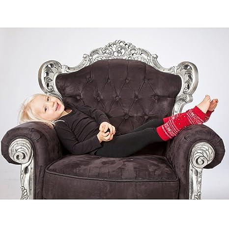 Hoppediz Norweger-Design Grau Babystulpen von 0-ca.3 Jahre ca 45/% Merino-Wolle