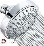 YOMYM Cabezal de ducha Lluvia de alta presión Cabezal de ducha fijo Lluvia 5 configuraciones con rótula giratoria de…
