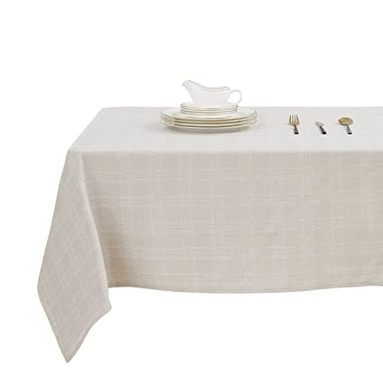 Charmant Deconovo Decorative Checkered Square Tablecloth Water Resistant Plaid  Tablecloths For Outdoor Picnic 54 X 54 Inch