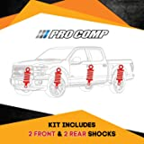 Pro Comp Kit 14 Set of 2 Front and 2 Rear Shock